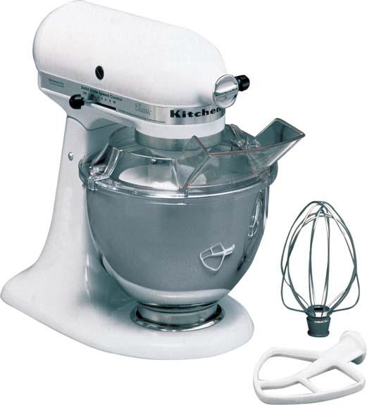 Kitchen Aid 5KSM45EWH, weiß, 4,28L