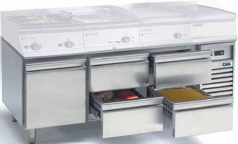 Unterbaukühltisch 1 ZG 2 ZK